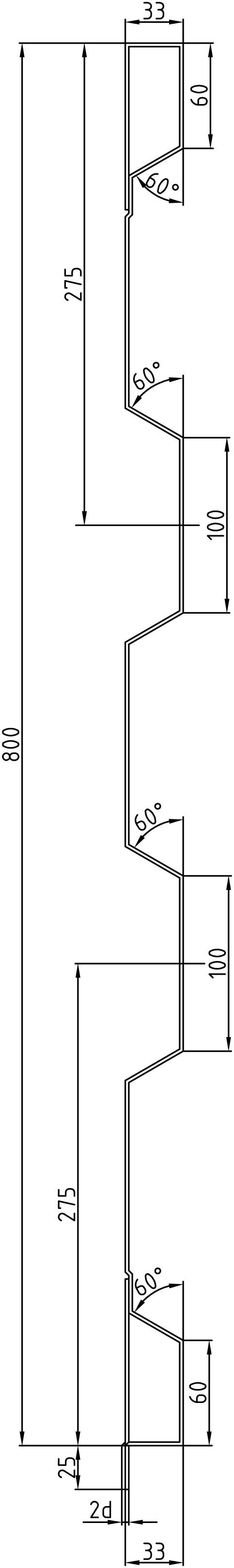 Brantner Kipper und Anhänger - 800x2x2370 front attachment wall incl. trailing