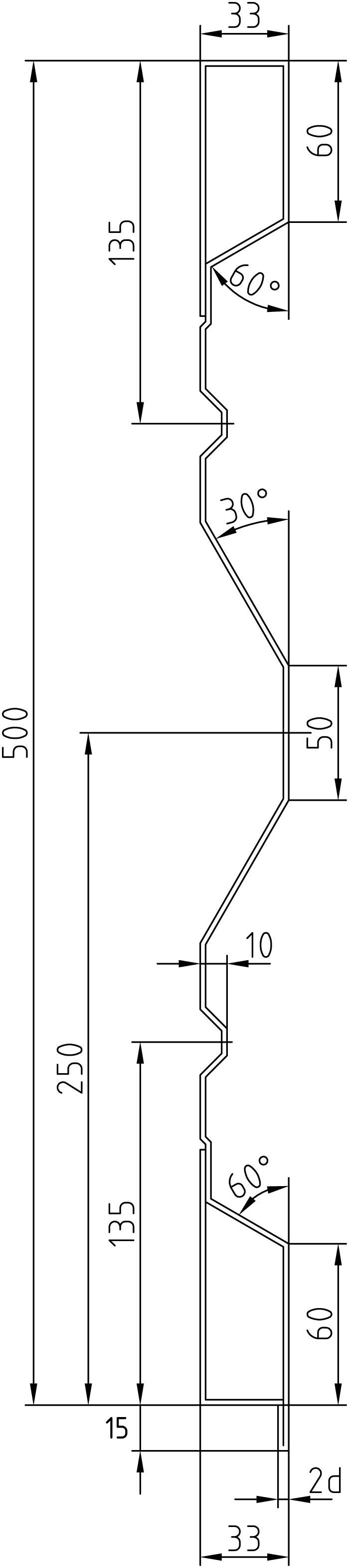 Brantner Kipper und Anhänger - 500x2x2375 rear sideboard with trailing edges