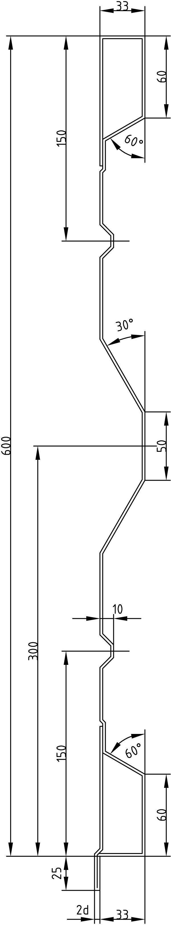 Brantner Kipper und Anhänger - 600x2x2375 attachment board with trailing edges