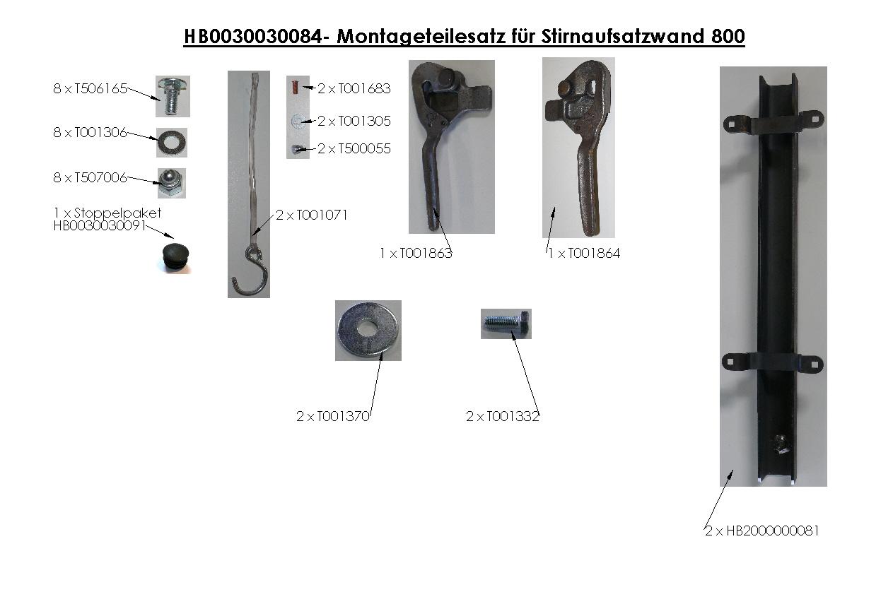 Brantner Kipper und Anhänger - AW-Zubehör für 3-SK mit Ecksteher 120x40 Höhe 800