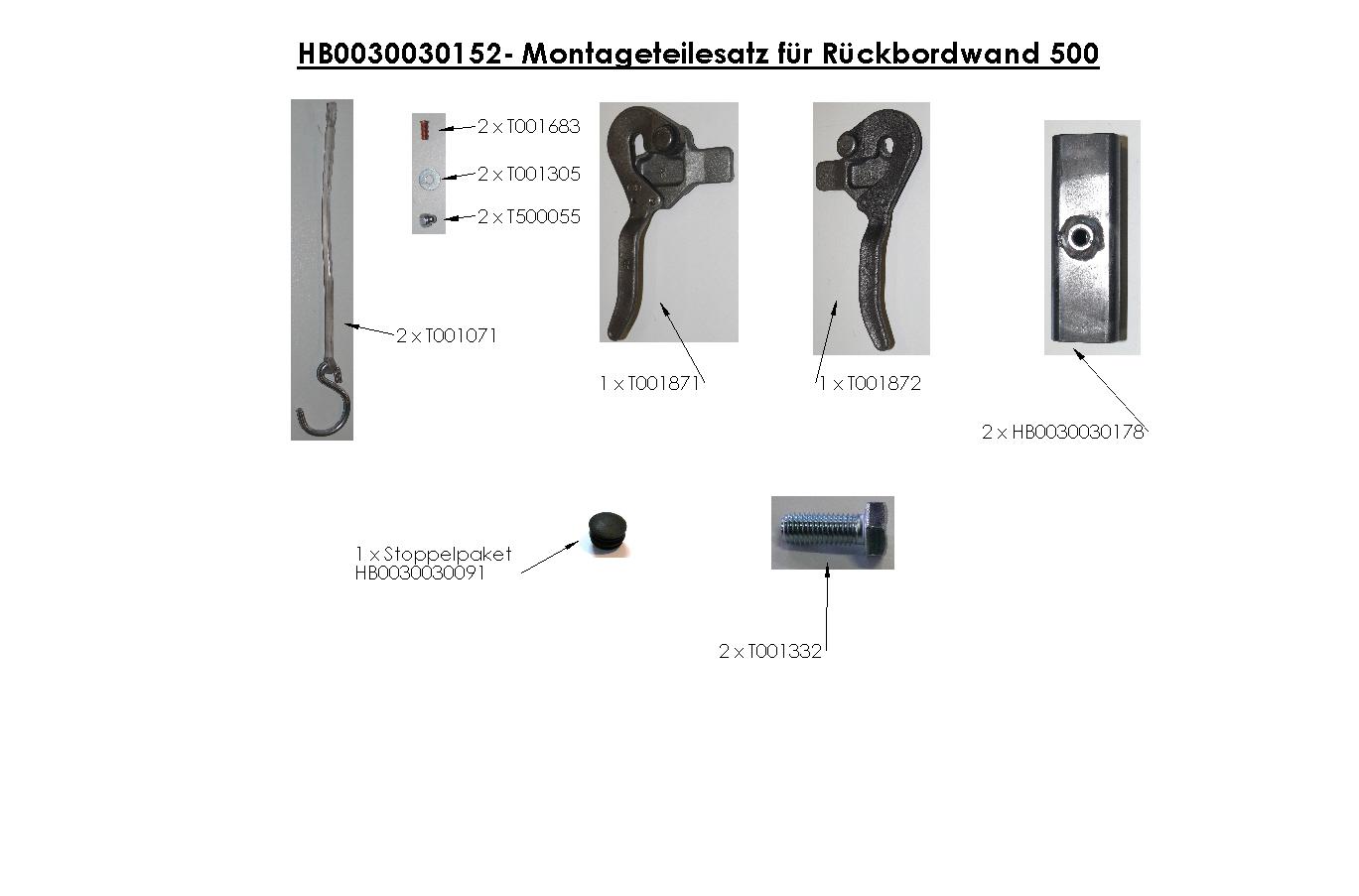 Brantner Kipper und Anhänger - BW-Zubehör für 2-SK Höhe 500