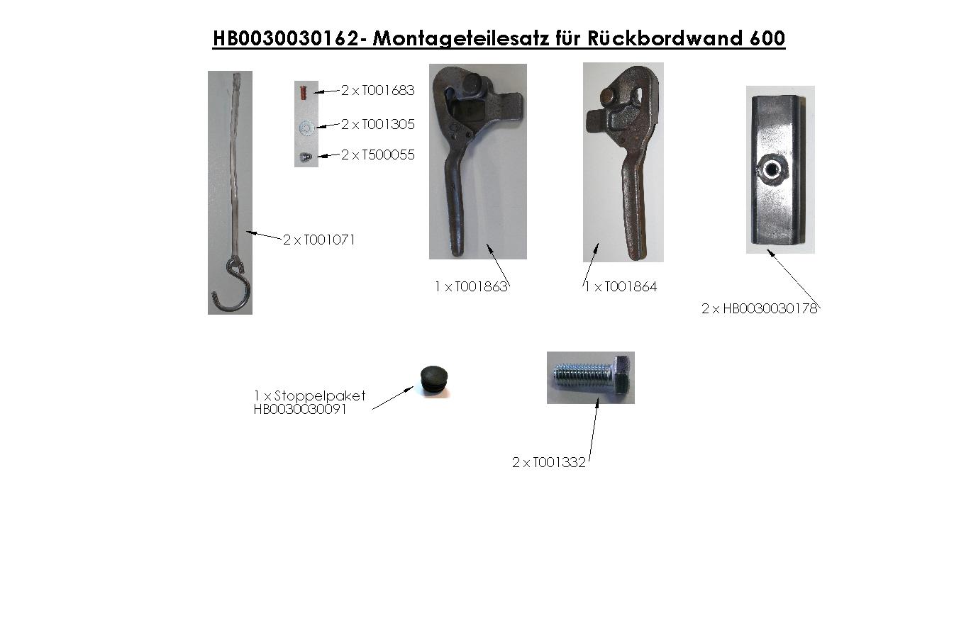 Brantner Kipper und Anhänger - BW-Zubehör für 2-SK Höhe 600