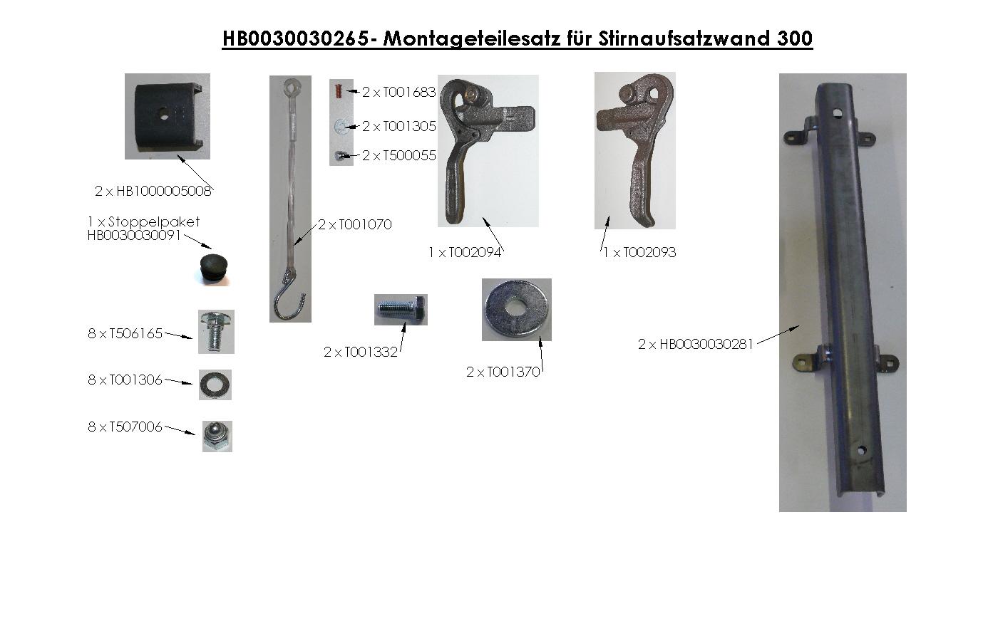 Brantner Kipper und Anhänger - AW-Zubehör für Stabilator mit hydr. RW Höhe 300