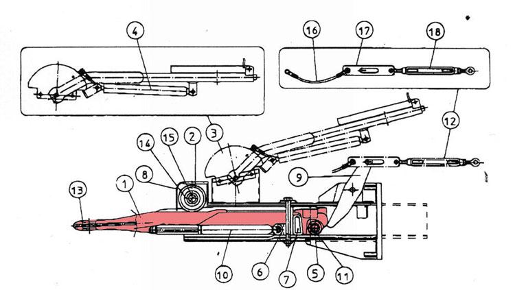 Brantner Kipper und Anhänger - Zugöse für Auflaufeinrichtung TA80-RC2 FAD
