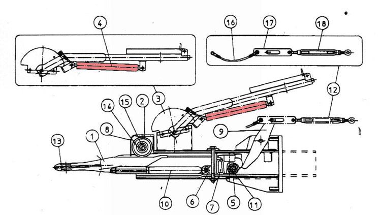 Brantner Kipper und Anhänger - Gasdruckfeder f. Auflaufeinrichtung TA80-RC2 FAD