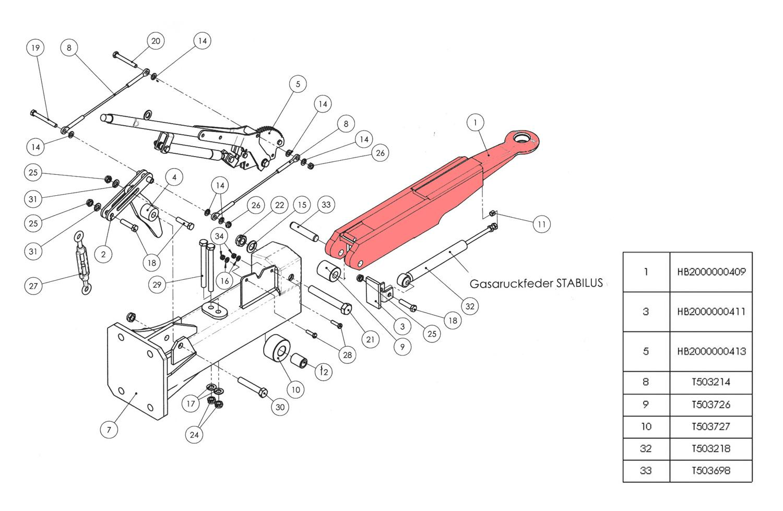 Brantner Kipper und Anhänger - 01 - towing eye for overrun device HB BAT