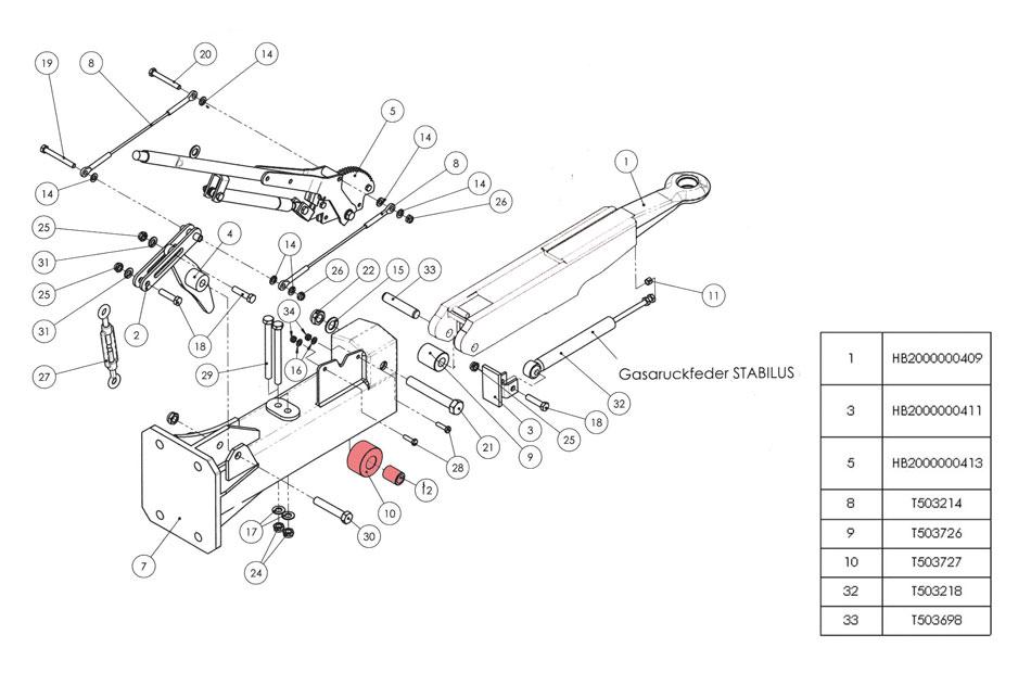 Brantner Kipper und Anhänger - Laufrolle vorne laut Zeichnung Nr.992 HB BAT (10)