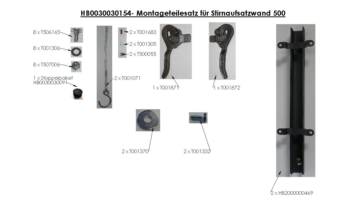 Brantner Kipper und Anhänger - AW-Zubehör für 2-SK Höhe 500