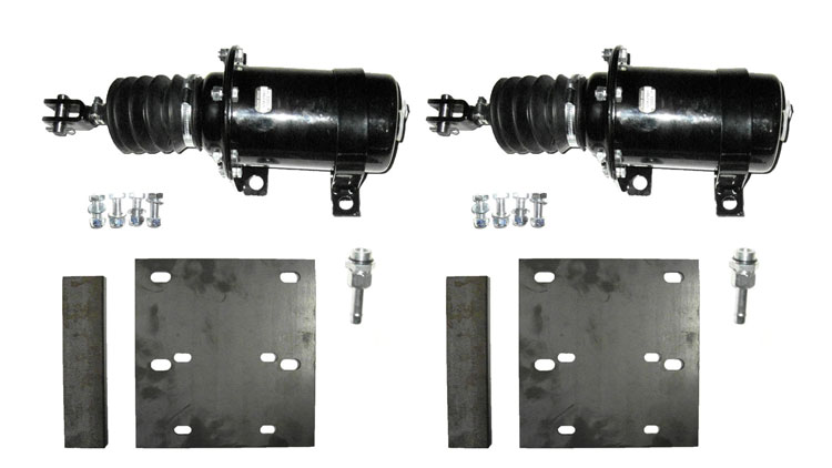 Brantner Kipper und Anhänger - Kolbenbremszylinder Einbausatz mit 2xD80 Zylinder