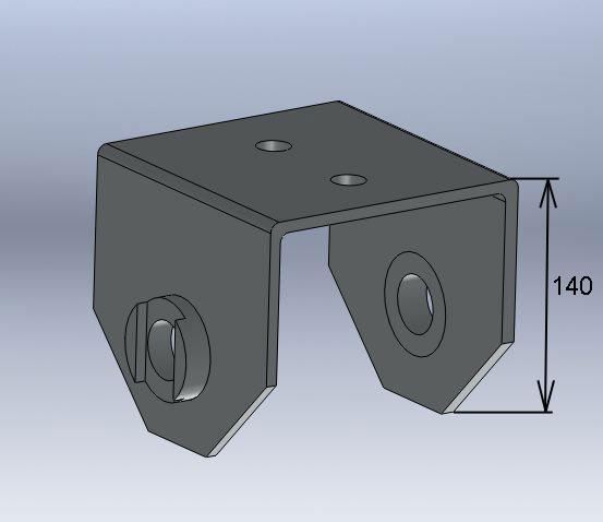 Brantner Kipper und Anhänger - U-Bügel für Mittelwippe Federbreite 100 mm
