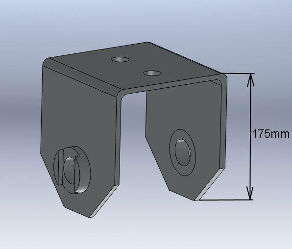 Brantner Kipper und Anhänger - U-Bügel(+35) für Mittelwippe Federbreite 80 mm