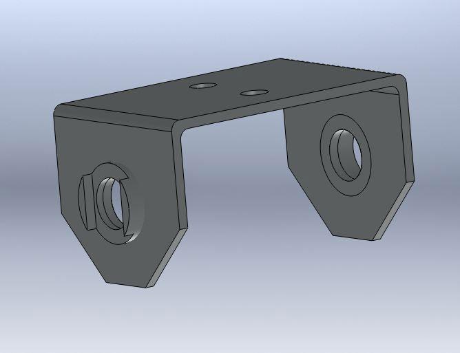 Brantner Kipper und Anhänger - U-Bügel für Mittelwippe Federbreite 80mm-ROH