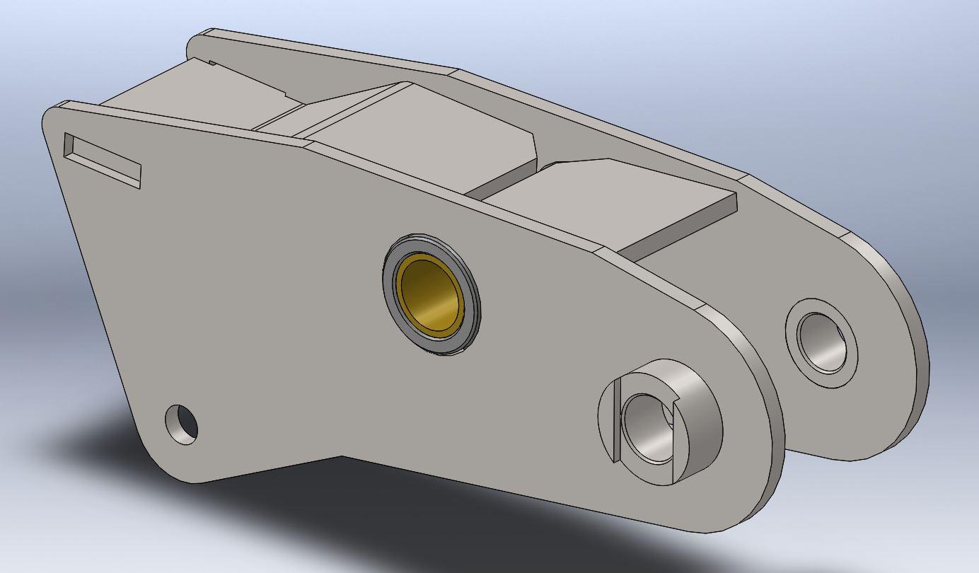 Brantner Kipper und Anhänger - middle rocker for spring 100 mm axle distance 1600