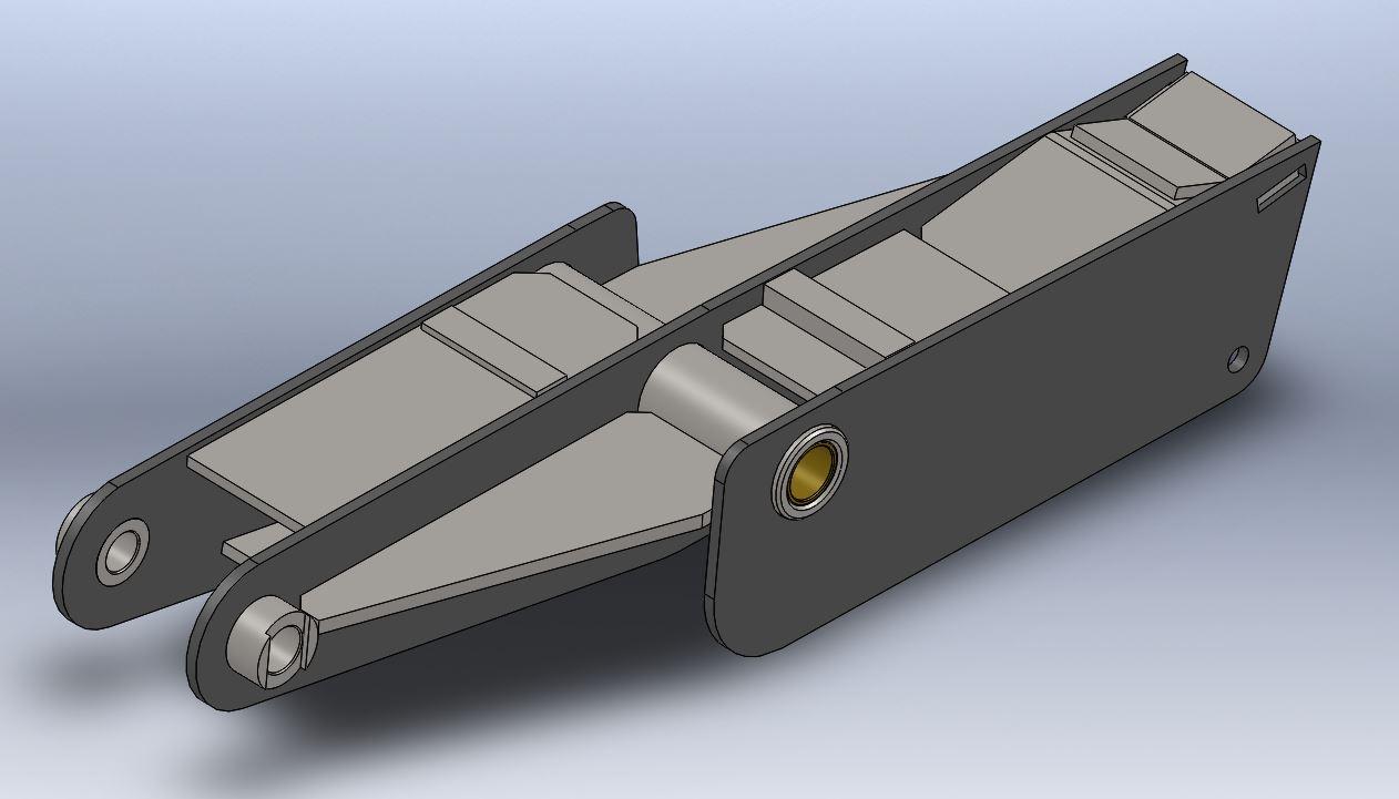 Brantner Kipper und Anhänger - Mittelwippe für Feder 100 mm Achsabstand 1480mm