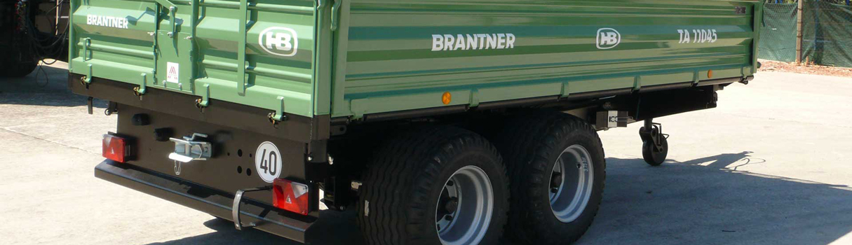 The TA11045XXL Tandem-threesidetipper produced by Brantner trailer and tipper production Austria.
