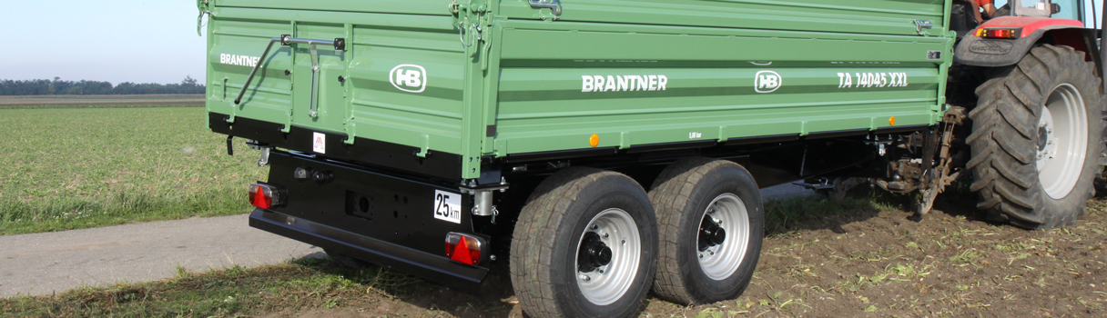 The TA14045XXL Tandem-threesidetipper produced by Brantner trailer and tipper production Austria.