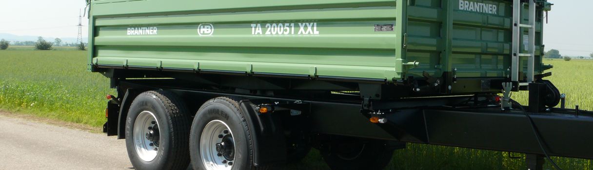 The TA20051/2XXL Tandem-threesidetipper produced by Brantner trailer and tipper production Austria.