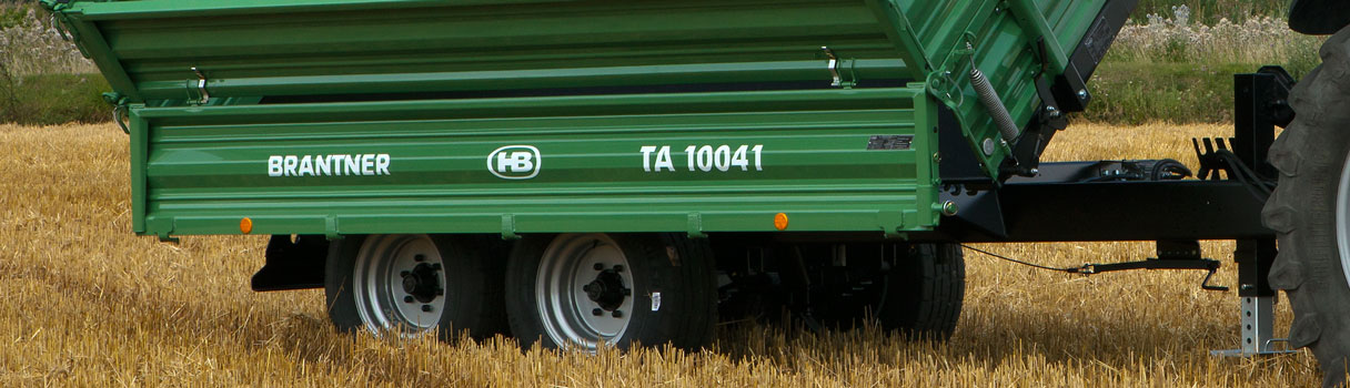 The TA10041 Tandem-threesidetipper produced by Brantner trailer and tipper production Austria.